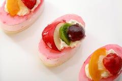 valentine de thème des fruits frais s de jour de gâteau Images libres de droits