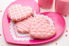 Valentine Decorated Cookies Imagens de Stock Royalty Free