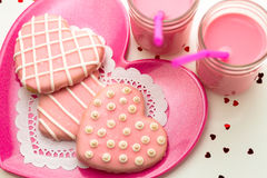 Valentine Decorated Cookies Fotografie Stock Libere da Diritti