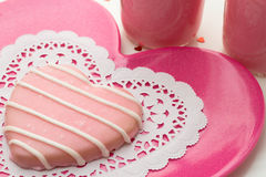 Valentine Decorated Cookies Foto de Stock Royalty Free
