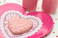 Valentine Decorated Cookies Imagens de Stock