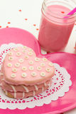 Valentine Decorated Cookies Fotos de Stock Royalty Free