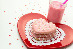 Valentine Decorated Cookies Imagem de Stock