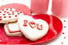 Valentine Decorated Cookies Foto de Stock