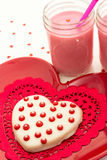 Valentine Decorated Cookies Fotografia de Stock Royalty Free