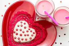 Valentine Decorated Cookies Stock Image