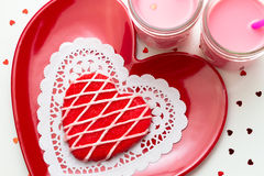 Valentine Decorated Cookies Royalty Free Stock Photos