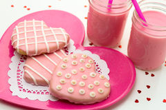 Valentine Decorated Cookies Royalty Free Stock Photo