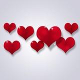 Valentine Decoration abstracto de corazones Fotografía de archivo libre de regalías
