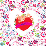 Valentine decoration with heart Stock Images
