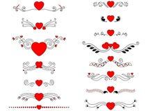 Valentine decorative header/scroll Royalty Free Stock Photo