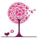 Valentine decorative tree 1. Valentine design elements. To see similar illustrations, please visit my gallery Royalty Free Stock Photography