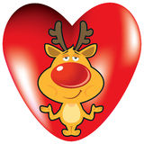 Valentine_deer Stock Photo