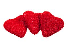 valentine des coeurs s de sucrerie photo stock