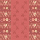 Valentine design. Red Valentine design with flowers and hearts. Abstract background Royalty Free Illustration