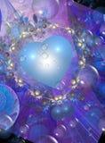 Valentine design in blues Stock Image