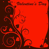 Valentine design card Stock Photography