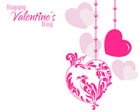 Valentine Designer Hearts Background Stock Photography