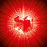 Valentine diamond Royalty Free Stock Image