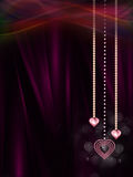 Valentine diamond heart Stock Image