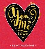 Valentine die liefdekaart creeting Stock Afbeeldingen