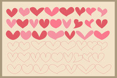 Valentine Dingbats Royalty Free Stock Photo