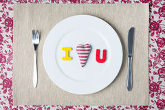 Valentine dinner concept Stock Photography