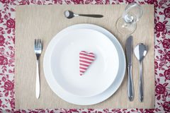 Valentine dinner concept Stock Images