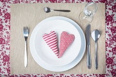 Valentine dinner concept Stock Photo
