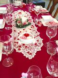 Valentine dinner party Royalty Free Stock Image