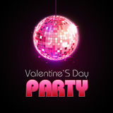 Valentine disco poster Royalty Free Stock Image