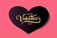 Valentine' diseño del saludo del día de s Celebración popular de moda de la plantilla de la bandera stock de ilustración