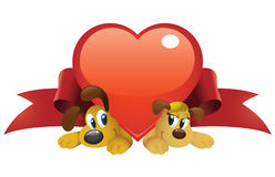 Valentine Dogs Royalty Free Stock Image