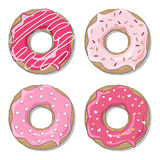 Valentine donuts Stock Images