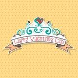 Valentine doodle retro Royalty Free Stock Photography