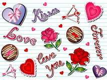 Valentine Doodle Royalty Free Stock Images