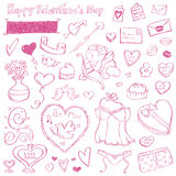 Valentine Doodles Royalty Free Stock Image