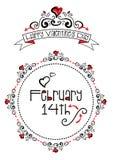 Valentine doodles Royalty Free Stock Image