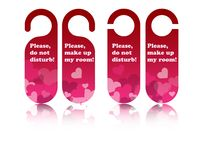 Valentine door tags Royalty Free Stock Image