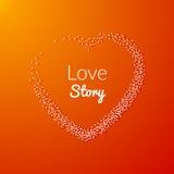 Valentine Dot Background avec la forme de coeur Histoire d'amour Fond heureux de Valentine Day Holiday Photos libres de droits