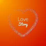 Valentine Dot Background with Heart shape. Love story. Happy Valentine Day Holiday background Royalty Free Stock Photos