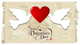 Valentine doves in love Royalty Free Stock Images