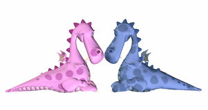 Valentine Dragons Stock Photos