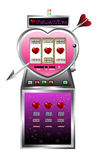 Valentine drawing of slot machine Royalty Free Stock Photo