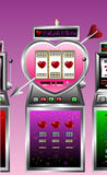 Valentine drawing of slot machine Stock Photos