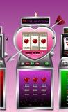 Valentine drawing of slot machine stock illustration