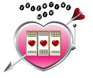 Valentine drawing of slot machine Stock Photography