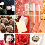 valentine du jour s de collage Photo libre de droits
