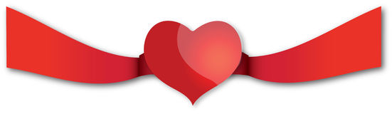 Valentine eart. A modern illustrated valentine heart Royalty Free Stock Photography