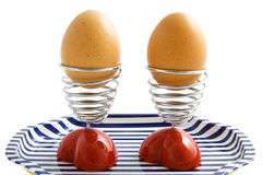 Valentine eggs Royalty Free Stock Image